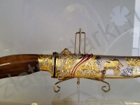 Нож Сокол украшенный (дамасск)